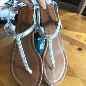 Rhinestone Unisa T-strap sandal